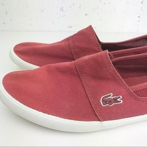 Lacoste Maurice Slip On Shoes Red Size 11